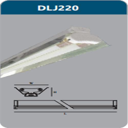 Đèn công nghiệp phản quang 2X9W DLJ220