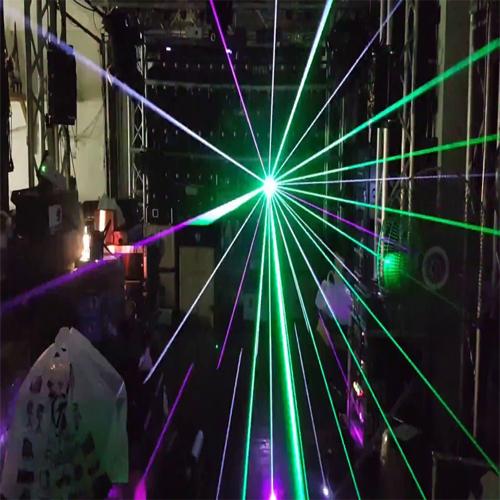 Đèn laser công suất lớn 10W RGB animation