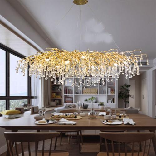 Đèn thả rễ tre phòng khách, phòng ăn