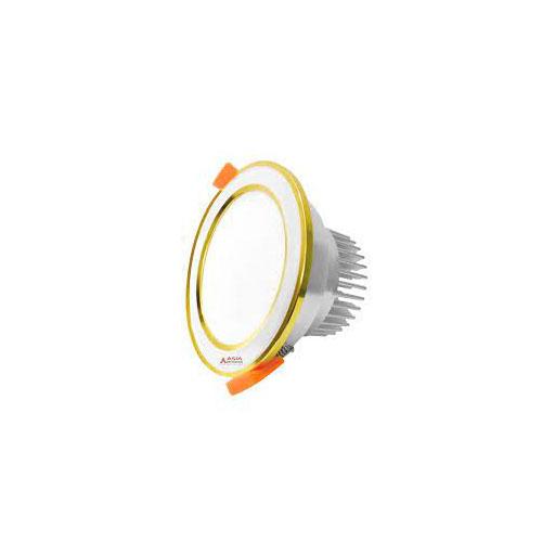 Đèn âm trần mặt bạc viền vàng 3 màu 9W