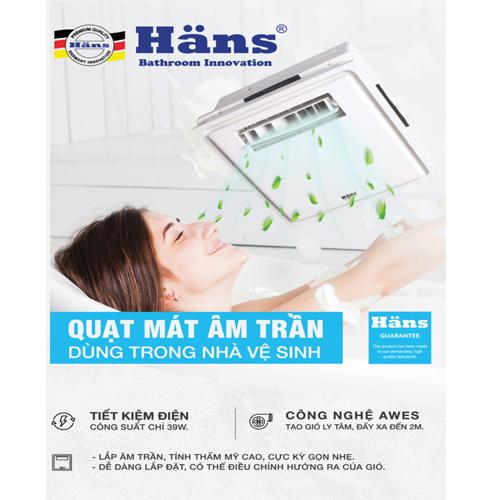 Quạt mát âm trần công tắc Häns – H10S
