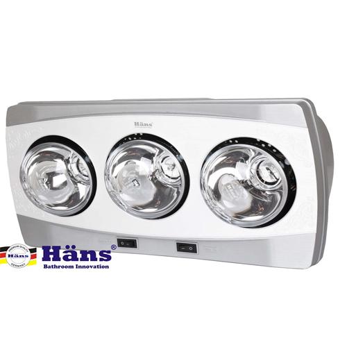 Đèn sưởi 3 bóng treo tường Hans – H3B