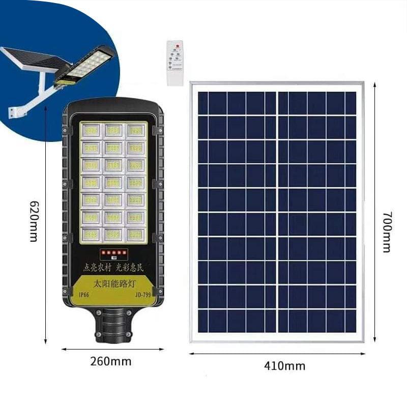 Đèn đường năng lượng mặt trời JinDian 100W JD-798
