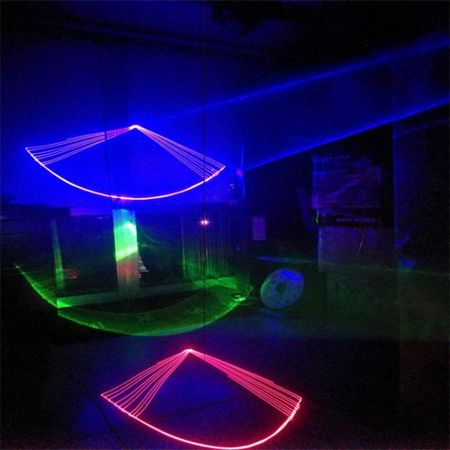 Đèn laser 3 mắt 7 màu chiếu hình 3d