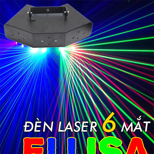 Đèn laser 6 mắt elisa