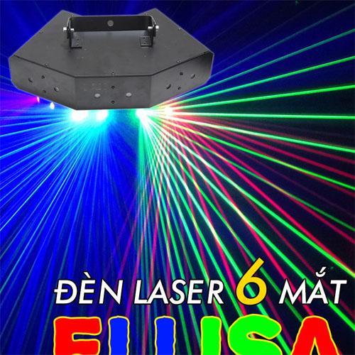 Đèn laser 6 mắt elisa