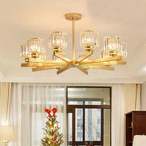 Đèn chùm phòng khách chung cư LCC-5055/10
