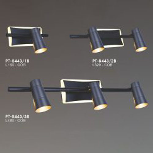 Đèn soi tranh, soi gương hiện đại màu đen LCC8443D