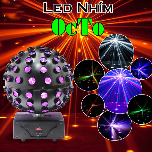 Đèn led cảm ứng âm thanh nhím octo