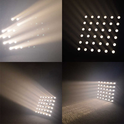 Ma trận LED 36 × 3W Trắng ấm