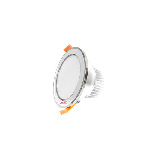 Đèn LED Âm Trần 5W 3 Màu Asia Mặt Bạc Viền Bạc MBB5