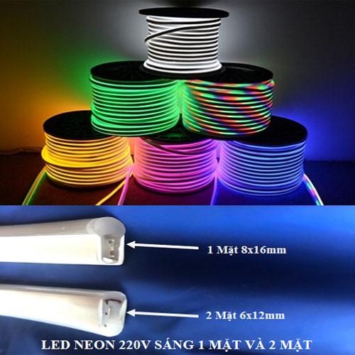 Led dây Flex Neon cuộn 100m 2 mặt