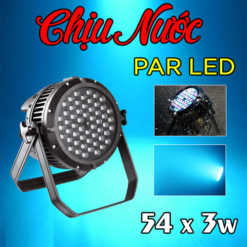Đèn PAR LED outdoor 54x3W RGBW chịu nước ngoài trời