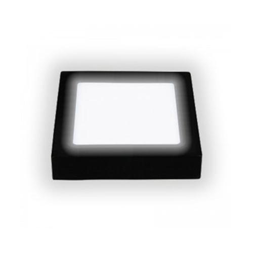 ĐÈN LED ỐP NỔI VUÔNG VỎ ĐEN ĐỔI MÀU 18W