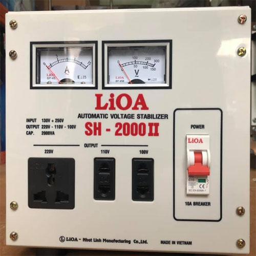 Ổn áp Lioa 2kva SH-2000II thế hệ mới