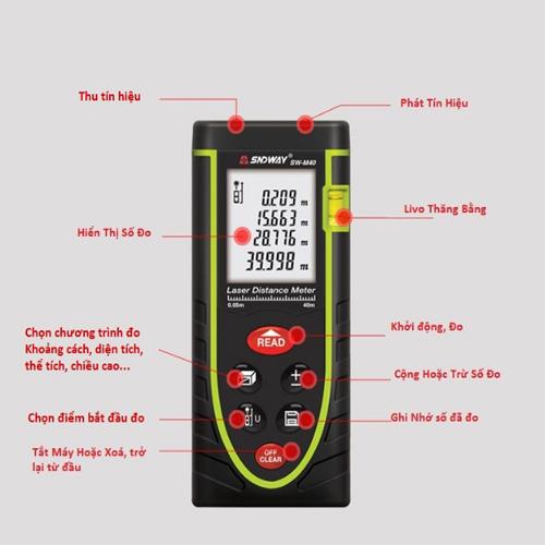 Thước đo khoảng cách Laser 40 mét