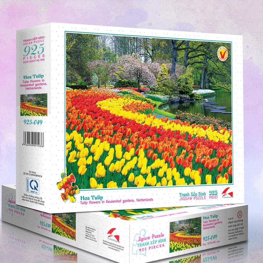 Tranh xếp hình 925-049 Hoa Tulip
