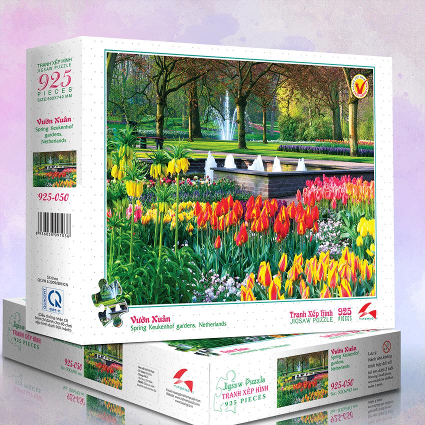 Tranh xếp hình 925-050 Vườn Xuân