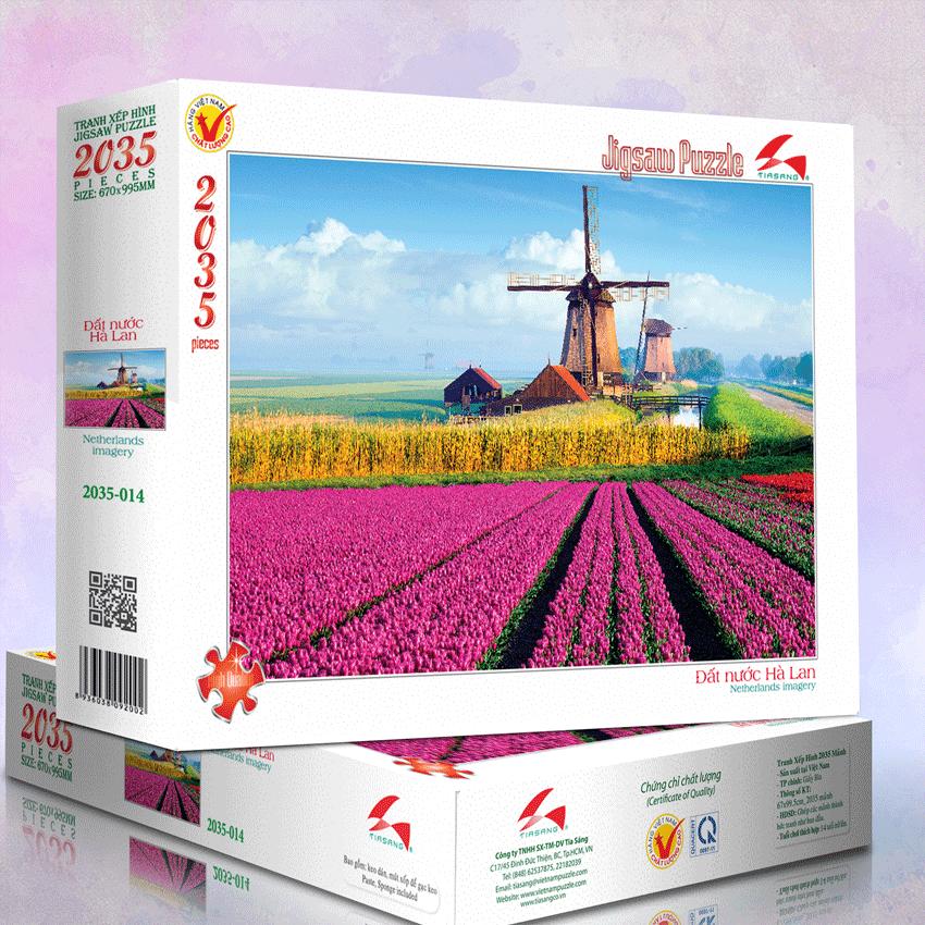 Tranh xếp hình 2035-014 Đất nước Hà Lan