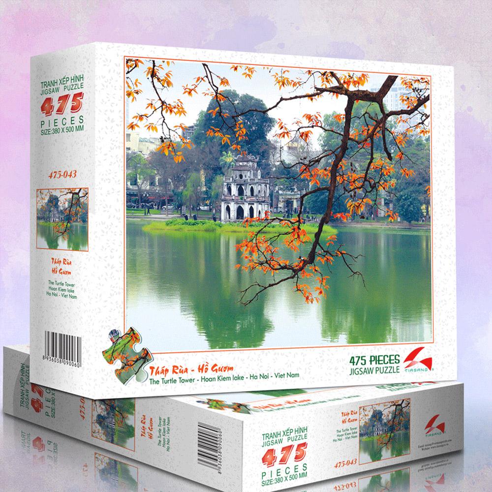 Tháp Rùa Hồ Gươm - Tranh xếp hình 475-043