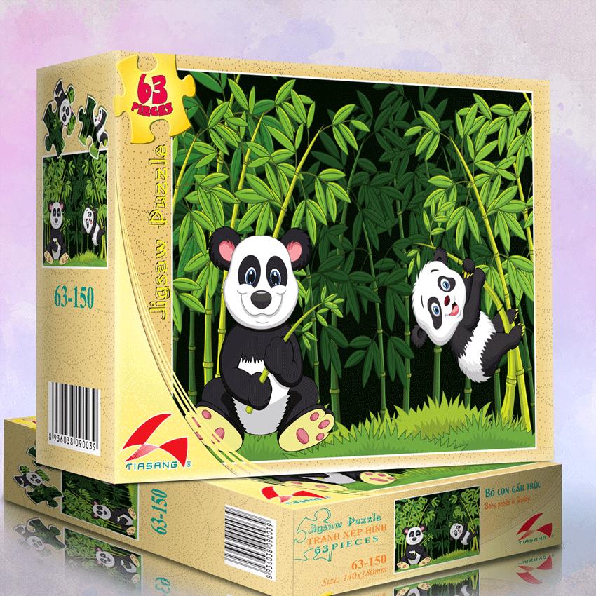 Xếp Hình 63-150 Bố con gấu trúc