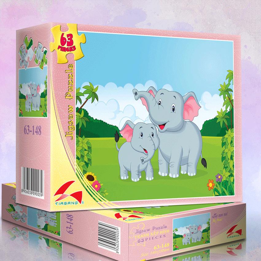Xếp Hình 63-148 Mẹ con voi