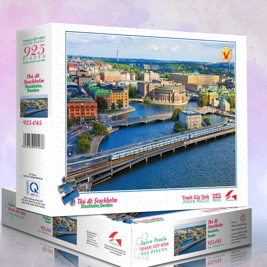 Thủ đô Stockholm - Tranh xếp hình 925 - MS: 925-045