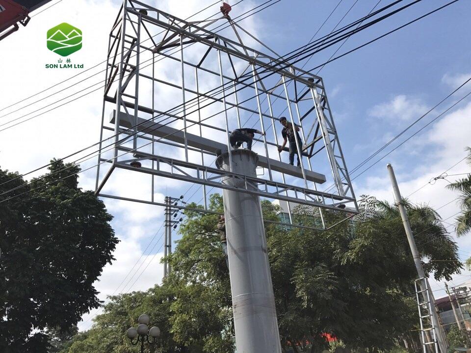 Thi công 64 m2 màn hình LED P6 full outdoor cho vườn hoa tại Lạng Sơn