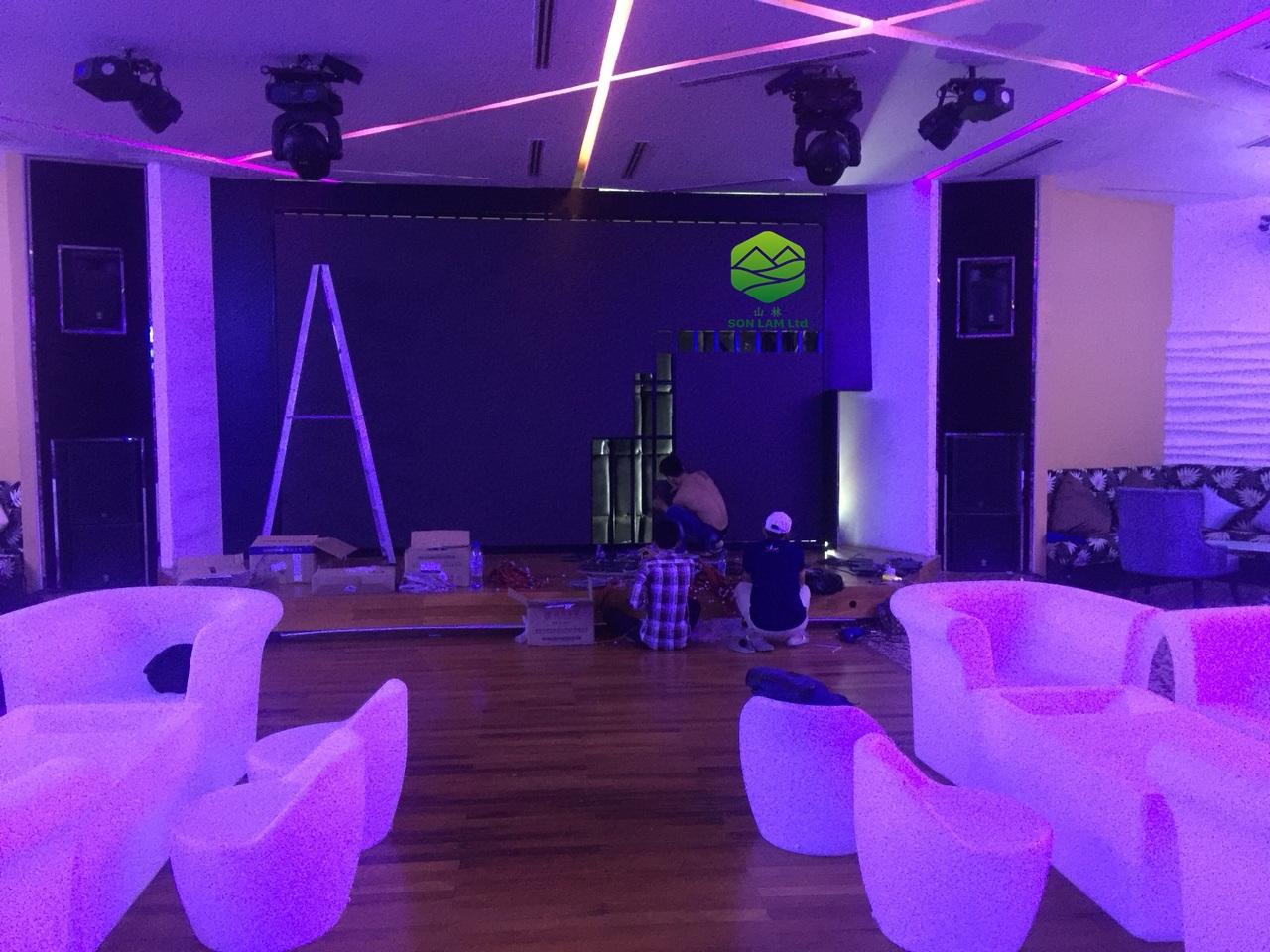 Thi công 15 m2 màn hình led P3 full indoor tại Campuchia