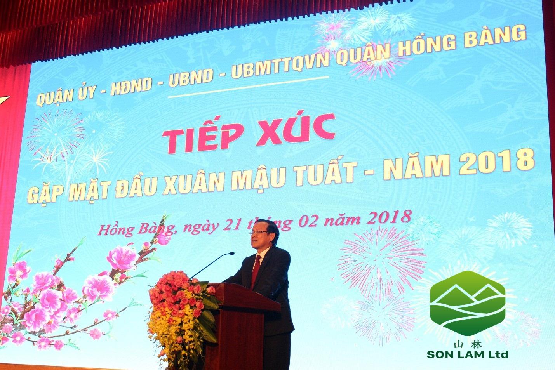 Thi công 100 m2 màn hình led P4 tại ủy ban nhân dân quận Hồng Bàng - Hải Phòng