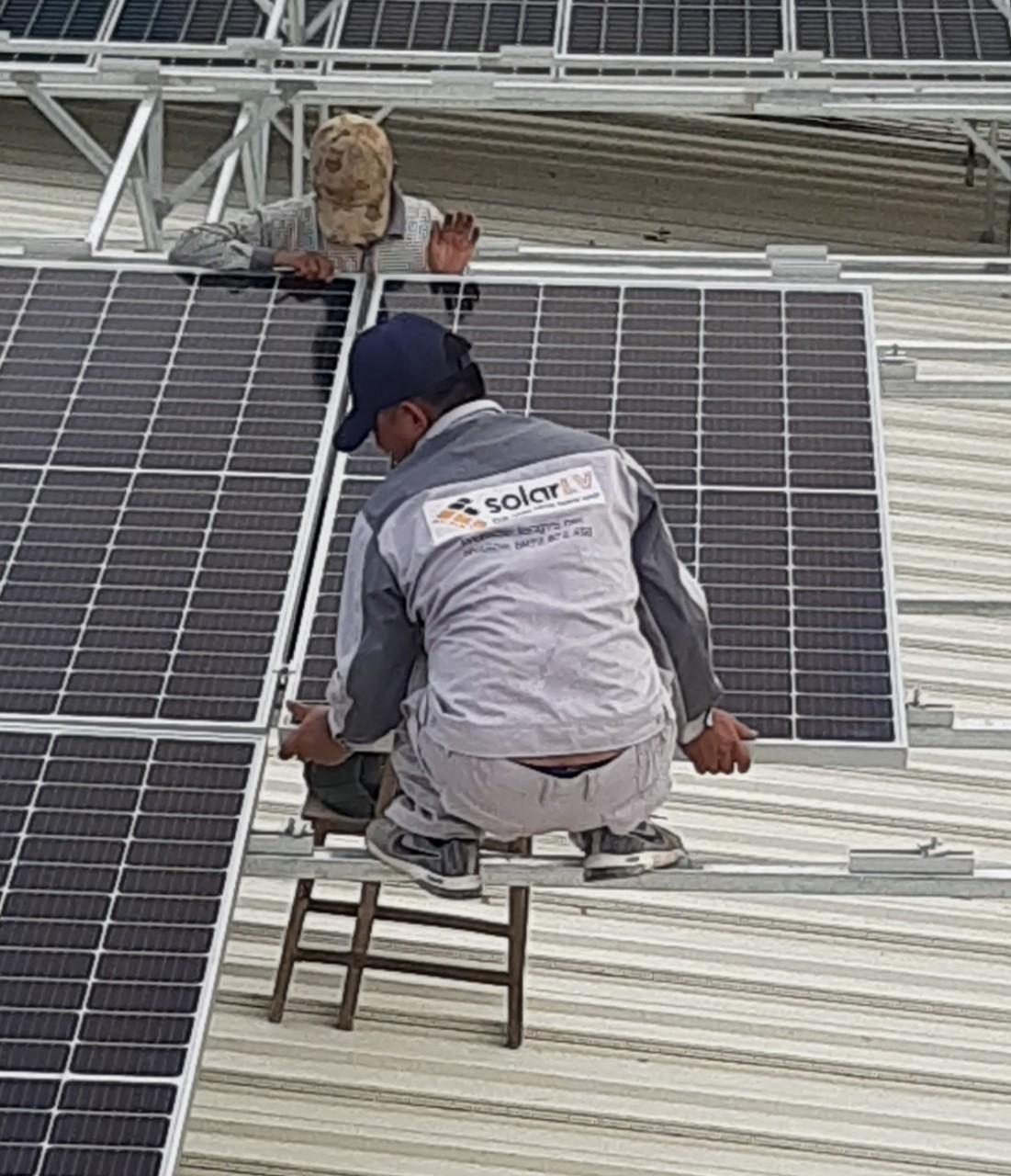 Lắp đặt Điện mặt trời 82kWp áp mái nhà Xưởng tại Bắc Ninh