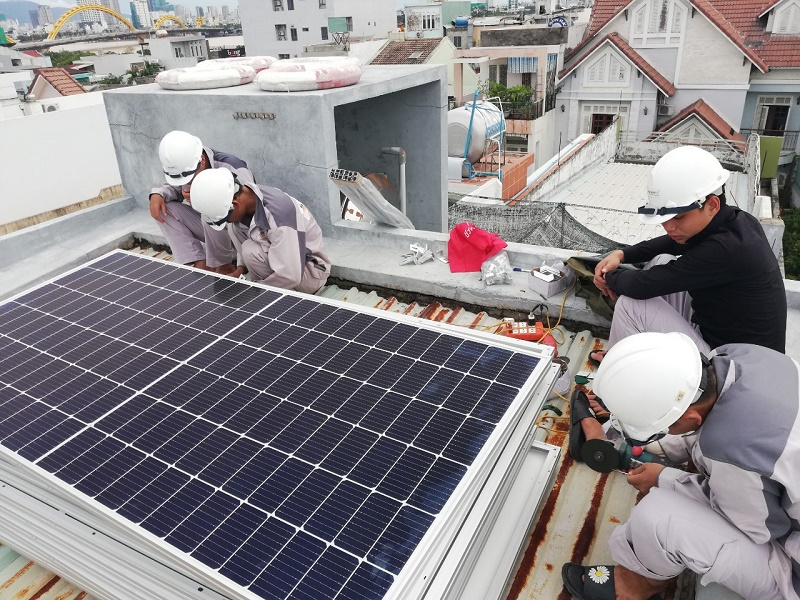 Lắp Đặt Điện Mặt Trời Hòa Lưới 5,34 KWp Tại TP Đà  Nẵng.