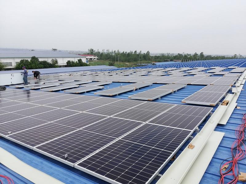 Công trình Điện mặt trời hòa lưới 1MGWp lắp đặt tại Quảng Bình