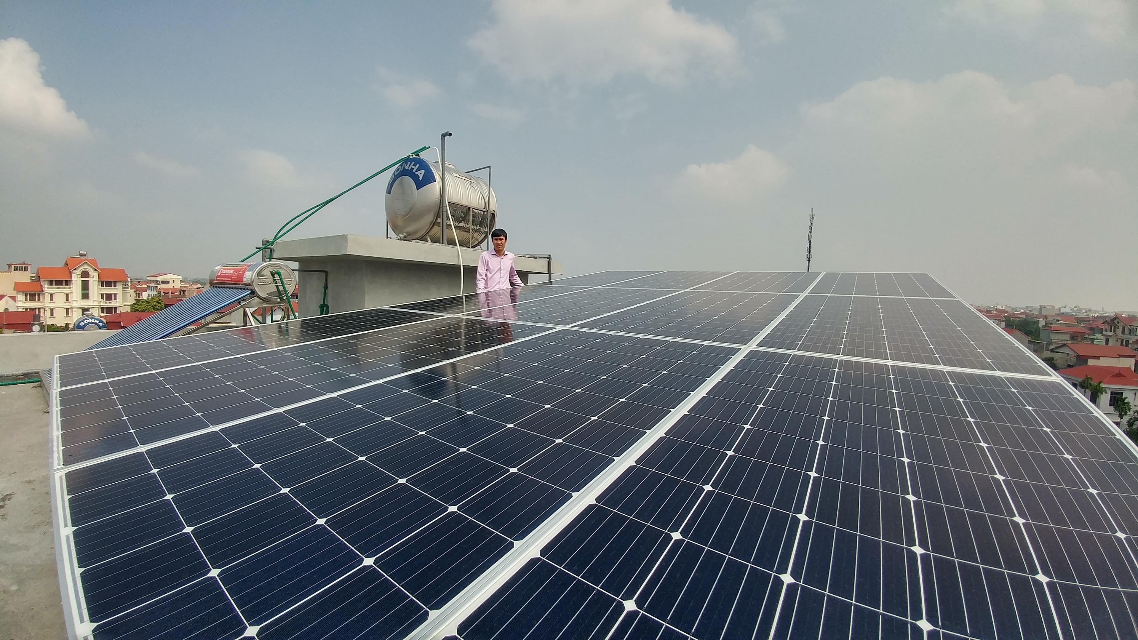 Lắp đặt Điện mặt trời áp mái 4,5kW tại huyện Đan Phượng, TP Hà Nội