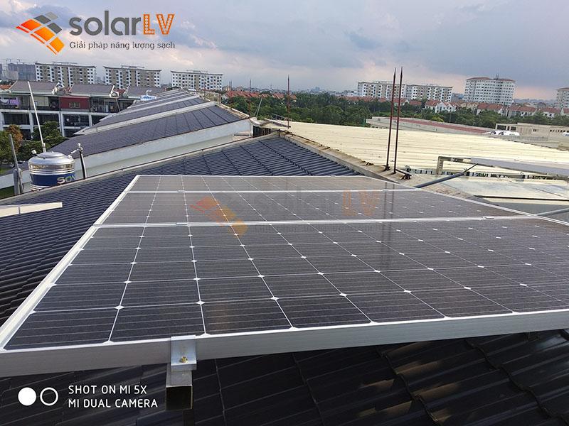 Lắp đặt điện mặt trời  hòa lưới 10KW cho hộ dân ở Gia Lâm - Hà Nội