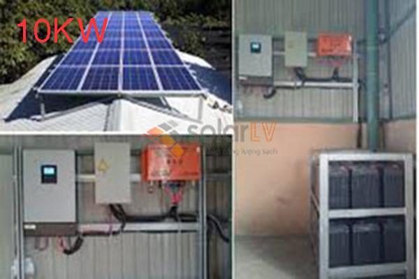 Lắp đặt hệ thống điện mặt trời hòa lưới 10kw