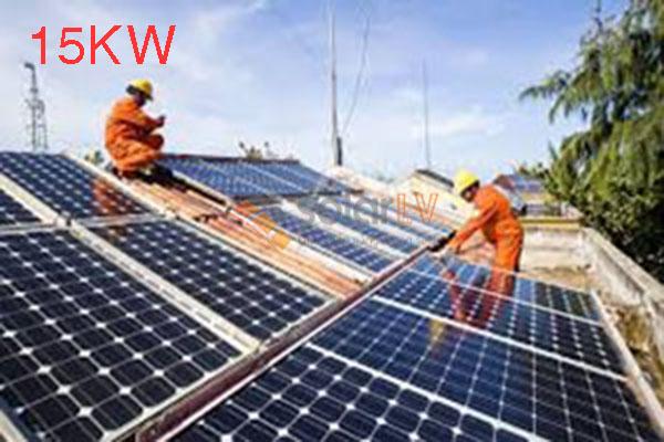 Lắp đặt hệ thống điện mặt trời hòa lưới 15kw