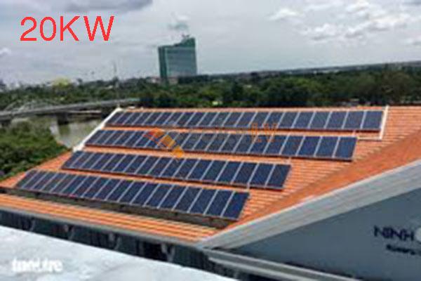 Lắp đặt hệ thống điện mặt trời hòa lưới 20kw