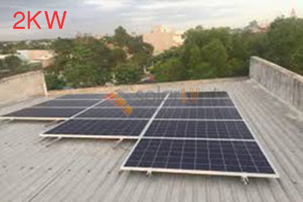 Lắp đặt hệ thống điện mặt trời hòa lưới 2kw