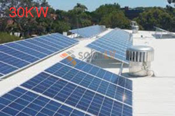 Lắp đặt hệ thống điện mặt trời hòa lưới 30kw