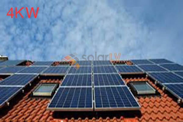 Lắp đặt hệ thống điện mặt trời hòa lưới 4kw