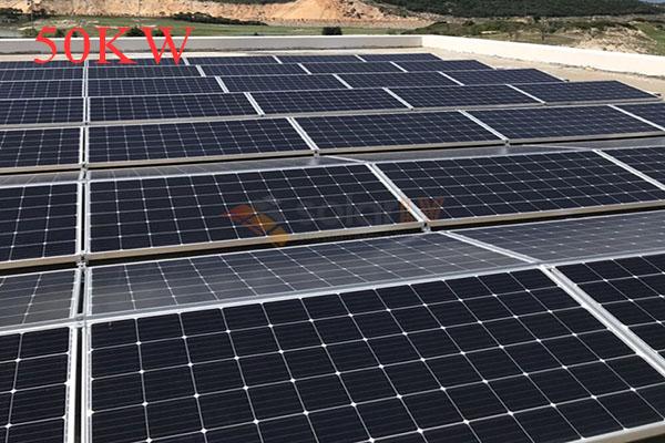 Lắp đặt hệ thống điện mặt trời hòa lưới 50kw