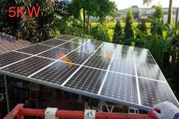 Lắp đặt hệ thống điện mặt trời hòa lưới 5kw