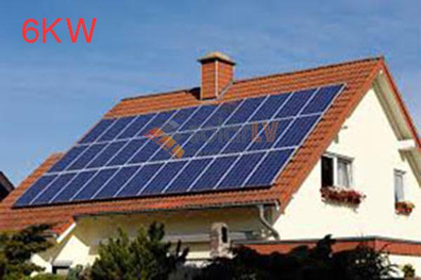 Lắp đặt hệ thống điện mặt trời hòa lưới 6kw