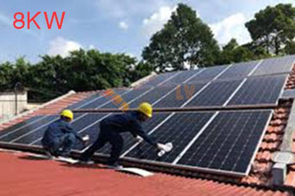 Lắp đặt hệ thống điện mặt trời hòa lưới 8kw