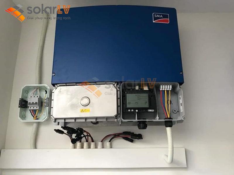 Lắp đặt Điện mặt trời hòa lưới 8,8kW tại TP Hưng Yên.