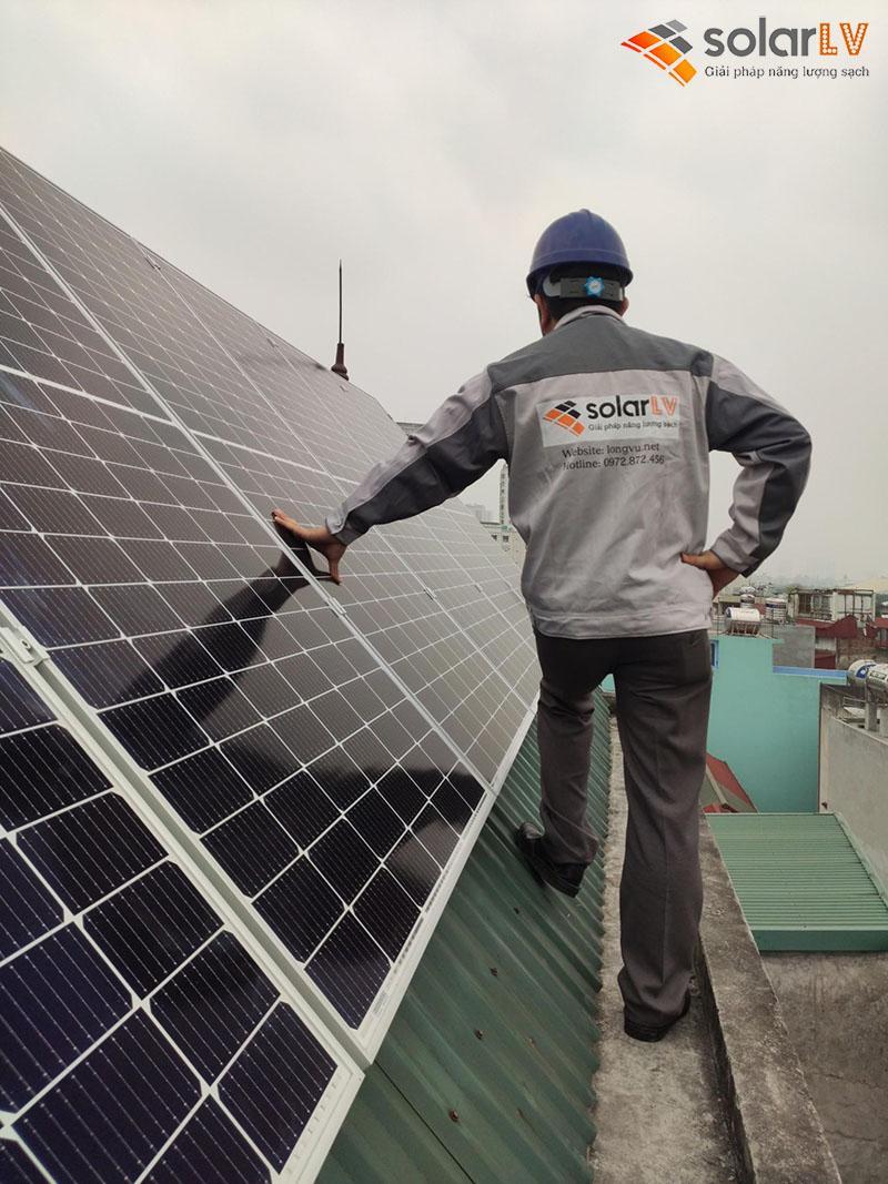 Lắp Đặt Điện Mặt Trời Hòa Lưới 5,34 KWp Tại Mỹ Đình - Hà Nội.