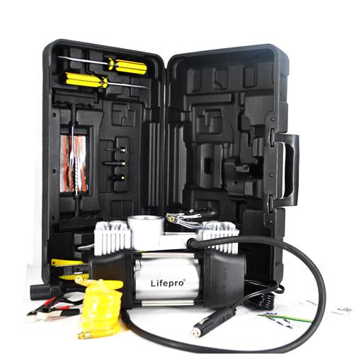Máy bơm lốp ô tô 2 xi lanh Lifepro L602-RJ