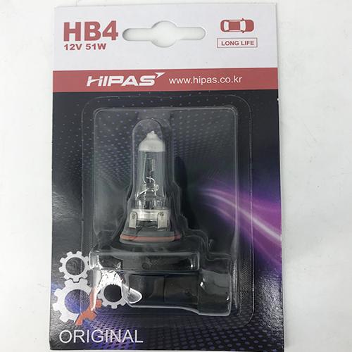 Bóng đèn HIPAS HB4 (9006) 12V 51W (LONG LIFE)