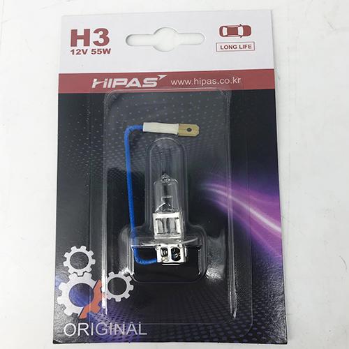Bóng đèn HIPAS H3 12V 55W (LONG LIFE)